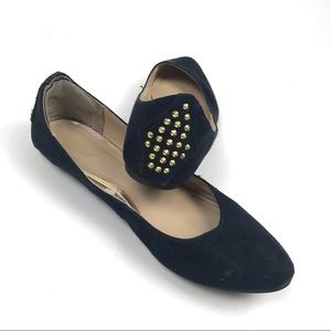 Mossimo 9 Ballet Flats Studded Studs Suede Shoes